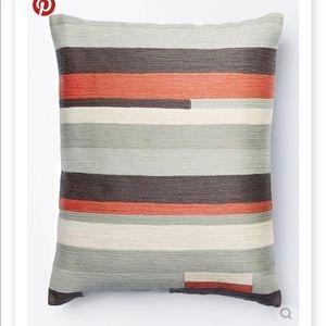 "West Elm Modern Stripes Pillow 18"" Rose Bisque"
